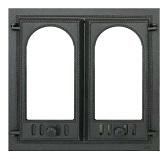 400 SVT каминная дверца со стеклом (двухстворчатая)