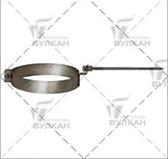 Хомут с креплением к стене (сталь 0,5 мм, диаметр 130 мм, зеркальная) XKvHR