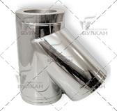Тройник DTRH 45° (материал: нержавеющая сталь, диаметр 150 мм)
