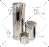 Труба двустенная DTH 500 (материал: нержавеющая полированная сталь, диаметр 104 мм)