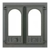 401 SVT каминная дверца со стеклом (двухстворчатая)