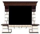 Портал Royal Flame Pierre Luxe тёмный дуб