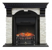 Электрокамин Royal Flame Dublin арочный сланец белый/венге с очагом Fobos FX Black