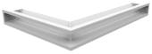 Вентиляционная решетка Kratki Люфт угловая правая 547х766х90 белая, 45S
