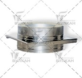 Опора DOH (материал: нержавеющая полированная сталь, диаметр: 100 мм)