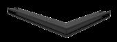 Вентиляционная решетка Kratki Люфт угловая левая 766х547х60 черная, 45S