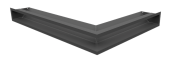 Вентиляционная решетка Kratki Люфт угловая левая 766х547х90 графит, 45S