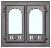 301 LK Дверца каминная двухстворчатая со стеклом