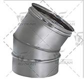 Отвод 30º (сталь 0,5 мм, диаметр 130 мм, зеркальная) OTvHR30