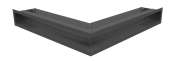 Вентиляционная решетка Kratki Люфт угловая стандарт 560х560х90 графит, 45S