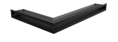 Вентиляционная решетка Kratki Люфт угловая правая 400х600х60 черная, 45S