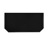 Предтопочный лист 063-R9005 400x800 черный VPL063R9005