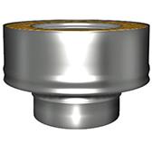 Переходник моно-термо с изоляцией 50 мм (двустенный, сталь 0,5 мм, диаметр 180 мм, зеркальная) PMvDR