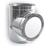 Тройник-взрывной клапан 90° с изоляцией 50 мм (двустенный, сталь 0,5 мм, диаметр 160 мм, зеркальная) TVvDR