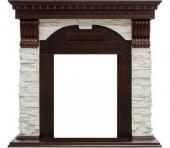 Портал Royal Flame Dublin арочный сланец белый/темный дуб под классические очаги