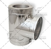 Тройник DTRH 90° (материал: оцинкованная сталь, диаметр 115 мм)