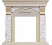 Портал Royal Flame Dublin арочный сланец крем/слоновая кость с патиной под классические очаги