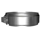 Хомут соединительный (сталь 0,5 мм, диаметр 200 мм, зеркальная) XSvXX