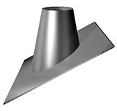Кровельный элемент 21°/32° (сталь 0,5 мм, диаметр 180 мм, зеркальная) KRvXX32