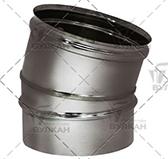 Отвод 15º (сталь 0,5 мм, диаметр 130 мм, зеркальная) OTvHR15