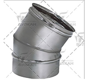 Отвод 30º (сталь 0,5 мм, диаметр 160 мм, зеркальная) OTvHR30