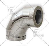Отвод DOTH 90° (материал: оцинкованная сталь, диаметр 130 мм)