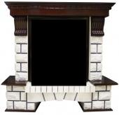 Портал Royal Flame Pierre Luxe тёмный дуб под классические очаги