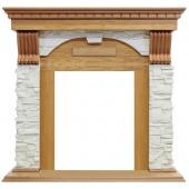 Портал Dublin дуб арочный сланец белый под классические очаги Dimplex (Opti-Myst, Optiflame)