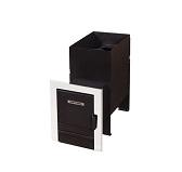 Фея под кирпичную кладку антрацит (с мет. дверкой) (18 куб. м.)