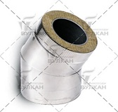 Отвод DOTH 30° (материал: полированная нержавеющая сталь, диаметр 130 мм)