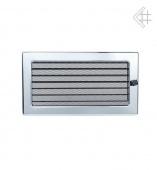 Вентиляционная решетка Kratki 17/30 Стандарт никелированная, регулируемая