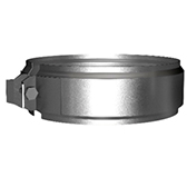Хомут соединительный (сталь 0,5 мм, диаметр 130 мм, зеркальная) XSvXX