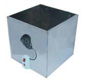Бак квадратный из нержавеющей стали, 125 л с тэном