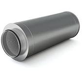 Шумоглушитель с изоляцией 50 мм (двустенный, сталь 0,5 мм, диаметр 200 мм, зеркальная) SHvDR