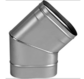 Отвод 45° (сталь 0,5 мм, диаметр 100x200 мм, матовая) OHO