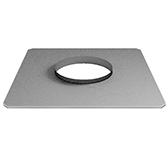 Фланец прямой без изоляции (сталь 0,5 мм, диаметр 250 мм, зеркальная) FHvXX