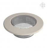 Вентиляционная решетка Kratki d-100 мм Стандарт бежевая, круглая