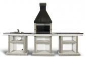 Барбекю Stimlex Darina XL Light black со столом и мойкой