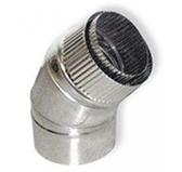 Отвод VCR 45º коаксиальный (сталь 0,5 мм, диаметр 80х130 мм, зеркальная)