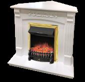 Электрокамин Royal Flame Sorrento белый дуб с очагом Fobos FX Brass