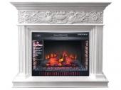 Электрокамин Royal Flame Palace белый с серебром с очагом Vision 30 EF LED FX