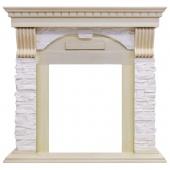 Портал Dublin слоновая кость с патиной арочный сланец крем под классические очаги Dimplex (Opti-Myst, Optiflame)