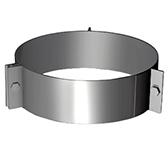 Хомут под растяжки  (сталь 0,5 мм, диаметр 130 мм, зеркальная) XRwXX