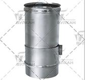 Труба телескопическая L = 330 мм (сталь 0,5 мм, диаметр 180 мм, матовая) TTvHR330