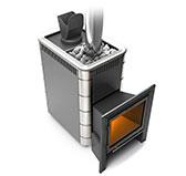 Банная печь Тунгуска 16 Витра Антрацит с теплообменником