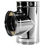 Тройник 90° с изоляцией 50 мм (двустенный, сталь 0,5 мм, диаметр 120 мм, зеркальная) TRvDR90