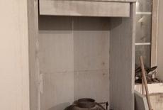 Установка каминной топки