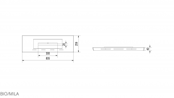 Контейнер для биотоплива Kratki BIO/MILA (для топок MILA)