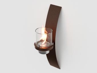 Биокамин настенный Lux Fire Олимпус D (коричневный)