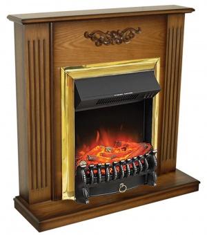 Электрокамин Royal Flame Lumsden дуб антик с очагом Fobos FX Brass